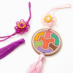 전통문양 매듭 꽃모양 노리개만들기