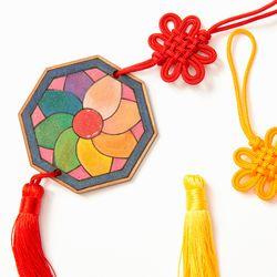 전통문양 매듭 이중매듭 노리개만들기