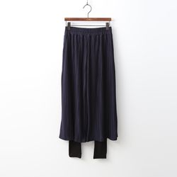 Wide Pleats Pants Leggings