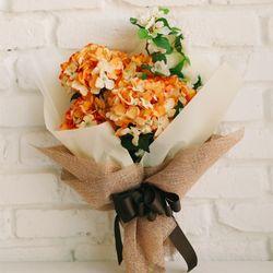 그립고 보고싶은 오렌지 수국 부케-성묘꽃다발성묘꽃납골당꽃