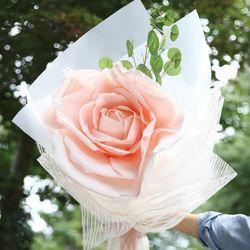 자이언트 핑크로즈 한송이 꽃다발-꽃다발선물장미선물장미꽃