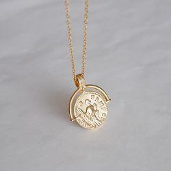빈티지 골드 코인 목걸이 vintage gold coin necklace