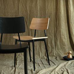 아베크 원목 의자 식탁의자 (블랙우드) AC04