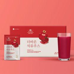 [무료배송] 100프로 NFC 저온착즙 더바른 석류주스 70ml x 30포