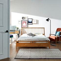 퀼른 원목 침대 Q (원목통깔판)
