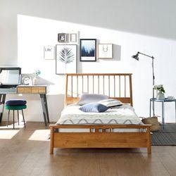 퀼른 원목 침대 SS (원목통깔판)
