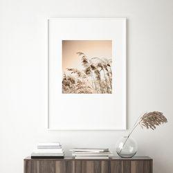 브론즈 가을 들판 그림 인테리어 A3 포스터