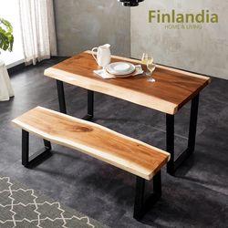 핀란디아 몽키포드 우드슬랩 1400식탁+벤치세트