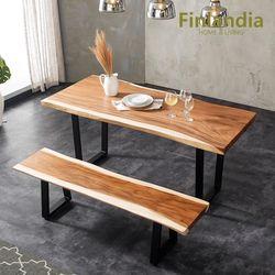 핀란디아 몽키포드 우드슬랩 1800식탁+벤치세트