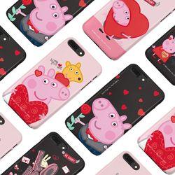 [구매별 사은품증정] 페파피그 하트 슬라이드케이스 - 아이폰 갤럭시 LG