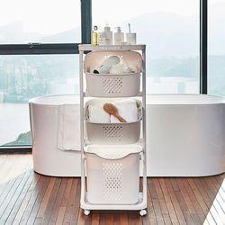이동식 세탁물바구니 (3단)