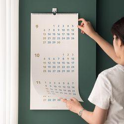 [메신저 펜 증정] 3개월 플랜 월 캘린더 롱 2020