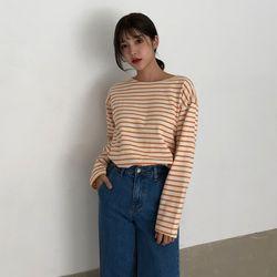 [로코식스] 스트라이프 베이직 티셔츠