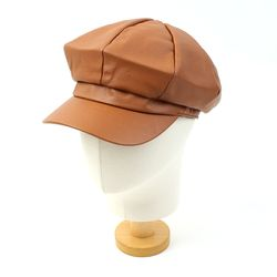 Leather Brown Newsboy Cap 뉴스보이캡