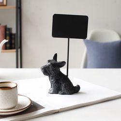 철제 미니 칠판보드 - 강아지 부엉이