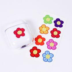 스마일꽃 에어팟 투명 케이스 8종스티커 세트