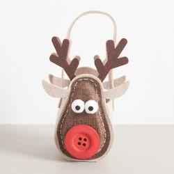 단추사슴가방 20cm 크리스마스 인형 장식 소품 TRDOLC