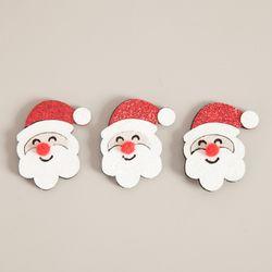 펄얼굴산타 5cm (3개입) 크리스마스 장식 소품 TROMCG