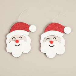 펄얼굴산타 8cm (2개입) 크리스마스 장식 소품 TROMCG