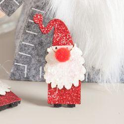 펄산타 5cm (3개입) 크리스마스 장식 소품 TROMCG