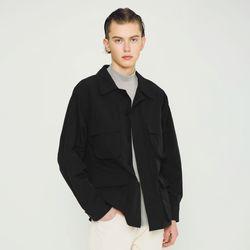 워셔블 4포켓 셔츠 자켓 블랙