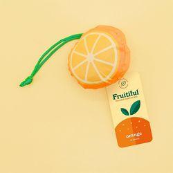 [럭키스] 휴대용 장바구니 접이식 시장가방 오렌지