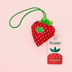 [럭키스] 휴대용 장바구니 접이식 시장가방 딸기
