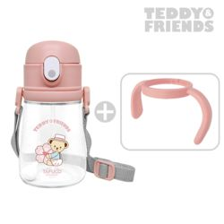 테디베어 프렌즈 트라이탄 빨대컵 360ml 핑크