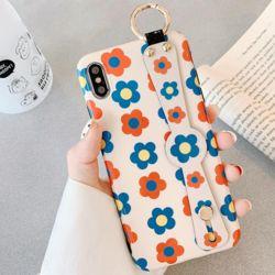 아이폰XR 플라워 손잡이 스트랩 실리콘 휴대폰 케이스