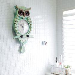 빈티지우드 부엉이추벽시계