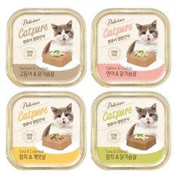 고양이간식 캣퓨어 영양간식 사각캔 100g