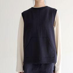backline point cotton vest (2colors)