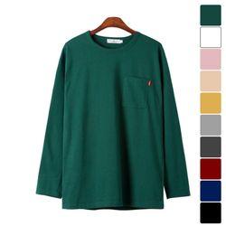 포켓 긴팔 티셔츠 TSL164