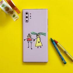 삼성 갤럭시노트10 플러스 디자인 휴대폰스킨 보호필름 (커플)