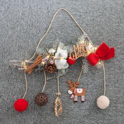 [무료배송] 네츄럴목화갈란드 45cmP 크리스마스 가랜드 TRWGHM