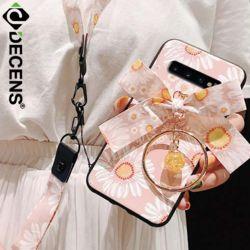 데켄스 M626 갤럭시 플라워 투 스트랩 휴대폰 케이스