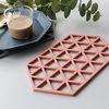 컵받침 냄비받침 실리콘 멀티디자인받침 육각형 3개 set