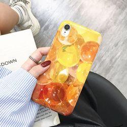오렌지 버블 아이폰 케이스