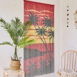 대나무 커튼 발 인테리어 벽장식 - 썬셋 비치