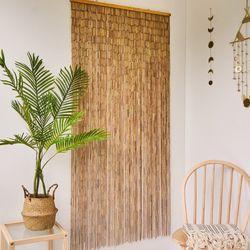 대나무 커튼 발 인테리어 벽장식 - 내추럴