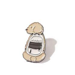 PUPPY BAG PIN - BEIGE