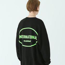 인터내셔널 스웨트셔츠 블랙