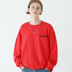 엣지 레이져 스웨트셔츠 레드