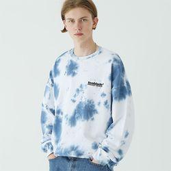 타이다이 로고 스웨트셔츠 블루