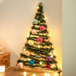 DIY 벽트리 나뭇가지 솔가지 레인보우 벽트리