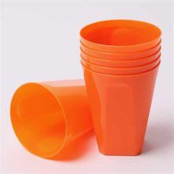 칼라 파티컵 사각-오렌지(6입)