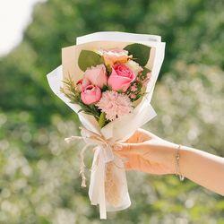 기억하겠습니다 성묘 꽃다발-비누꽃카네이션납골당산소꽃다발