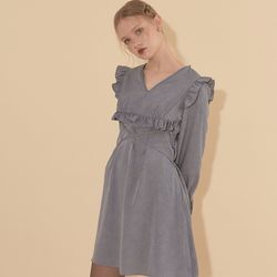 Ruffle Mini Dress Blue