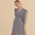 Ruffle Mini Dress Blue