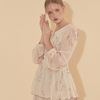 Chiffon Layered Dress Ivory